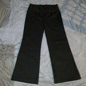 Juniors 7 black dress pants w silver pin stripes